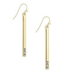 Principles by Ben de Lisi - Designer crystal set polished stick earring