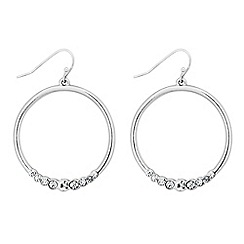 Principles by Ben de Lisi - Designer crystal encased hoop drop earring