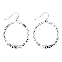Principles by Ben de Lisi - Designer crystal encased hoop drop earring