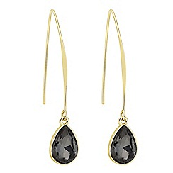 Principles by Ben de Lisi - Designer jet bead snake chain drop earring