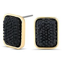 Principles by Ben de Lisi - Designer jet embellished square stud earring