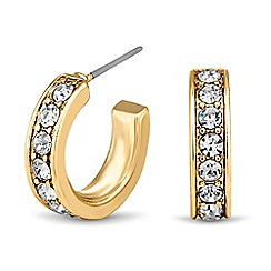 Principles by Ben de Lisi - Designer gold crystal mini hoop earring