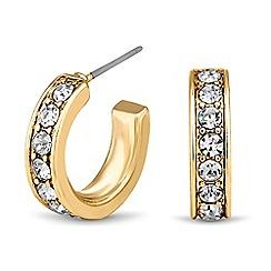 Principles by Ben de Lisi - Designer gold crystal mini hoop earring
