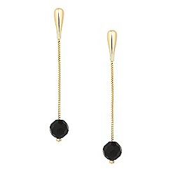 Principles by Ben de Lisi - Designer long jet bead drop earring