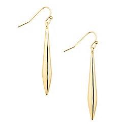 Principles by Ben de Lisi - Designer polished pointed stick drop earring