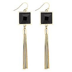 Principles by Ben de Lisi - Designer jet stone tassel drop earring