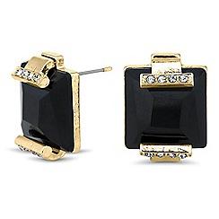 Principles by Ben de Lisi - Designer jet square stone stud earring