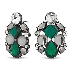 Principles by Ben de Lisi - Designer green cluster stone stud earring