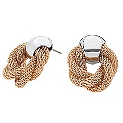Principles by Ben de Lisi - Designer two tone twisted knot earring