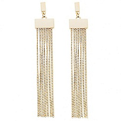Principles by Ben de Lisi - Designer polished and tassel drop earring