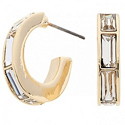 Principles by Ben de Lisi - Designer crystal baguette half hoop earring