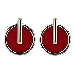 Principles by Ben de Lisi - Red circle drop earring