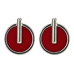 Principles by Ben de Lisi - Red circle drop earring