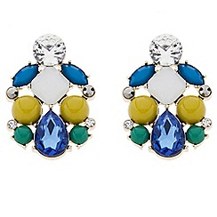 Principles by Ben de Lisi - Designer multicoloured stone cluster earring