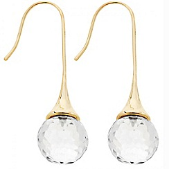 Principles by Ben de Lisi - Designer crystal facet bead stick earring