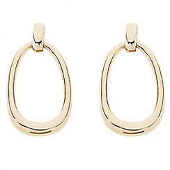 Principles by Ben de Lisi - Designer polished oval link drop earring