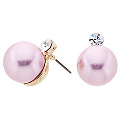 Principles by Ben de Lisi - Designer pink pearl and crystal stud earring