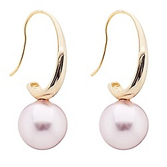 Principles by Ben de Lisi - Designer curved pink pearl drop earring
