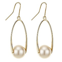 Principles by Ben de Lisi - Twisted  pearl drop  earring