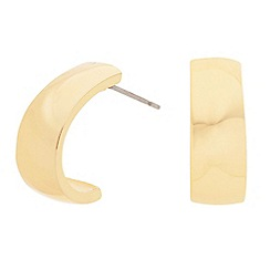 Principles by Ben de Lisi - Designer polished gold half hoop earring