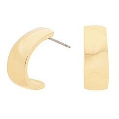 Principles by Ben de Lisi - Designer polished gold half hoop earring