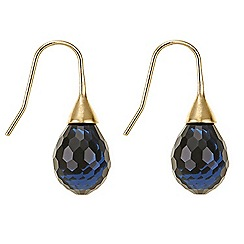 Principles by Ben de Lisi - Blue facet bead drop earring