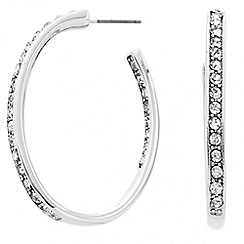 Principles by Ben de Lisi - Designer crystal oval hoop earring