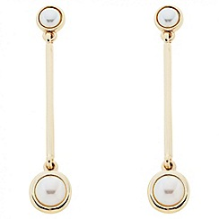 Principles by Ben de Lisi - Designer polished stick pearl earring