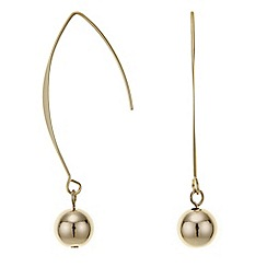 Principles by Ben de Lisi - Designer gold curved stick drop earring