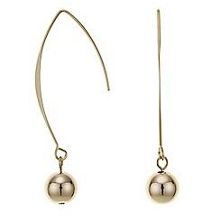 Principles by Ben de Lisi - Designer gold curved stick drop earring