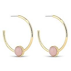 Principles by Ben de Lisi - Semi precious stone gold hoop earring