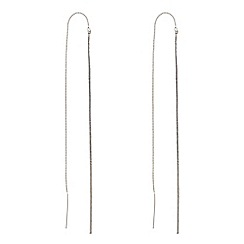 Principles by Ben de Lisi - Slinky chain thread through silver earring