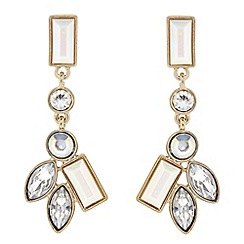Principles by Ben de Lisi - Designer white stone cluster drop earring