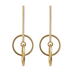 Principles by Ben de Lisi - Designer Gold double circle drop earring