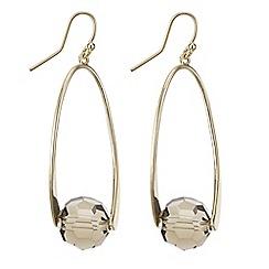 Principles by Ben de Lisi - Designer Beaded gold twist drop earring