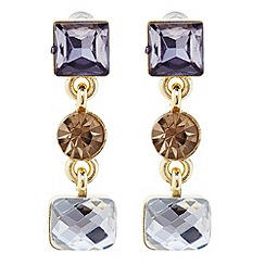 Principles by Ben de Lisi - Designer grey mixed stone drop earring