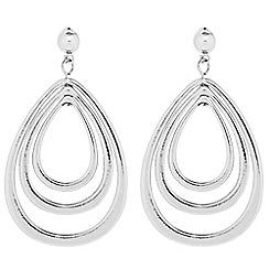 Principles by Ben de Lisi - Designer Silver multi peardrop earring