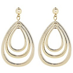 Principles by Ben de Lisi - Designer Gold multi peardrop earring