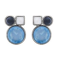 Principles by Ben de Lisi - Designer Blue circular stud earring