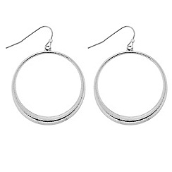 Principles by Ben de Lisi - Designer Silver forward facing hoop earring