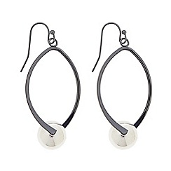 Principles by Ben de Lisi - Designer two tone ball twist drop earring