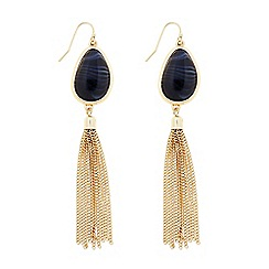 Principles by Ben de Lisi - Designer marble effect gold tassel earring