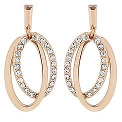 Principles by Ben de Lisi - Designer Pave double oval drop earring