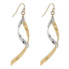Principles by Ben de Lisi - Designer Two tone twisted drop earring
