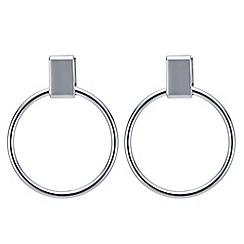 Principles by Ben de Lisi - Designer silver circle drop earring