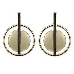 Principles by Ben de Lisi - Designer gold double circle stud earring