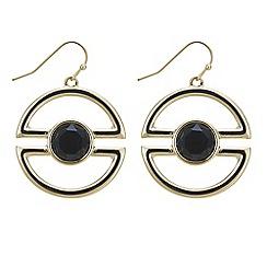 Principles by Ben de Lisi - Designer black stone half circle drop earring