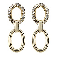 Principles by Ben de Lisi - Designer oval link crystal drop earring