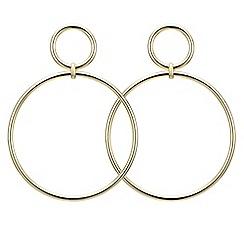 Principles by Ben de Lisi - Designer double hoop large drop earring