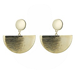 Principles by Ben de Lisi - Designer half circle drop earring